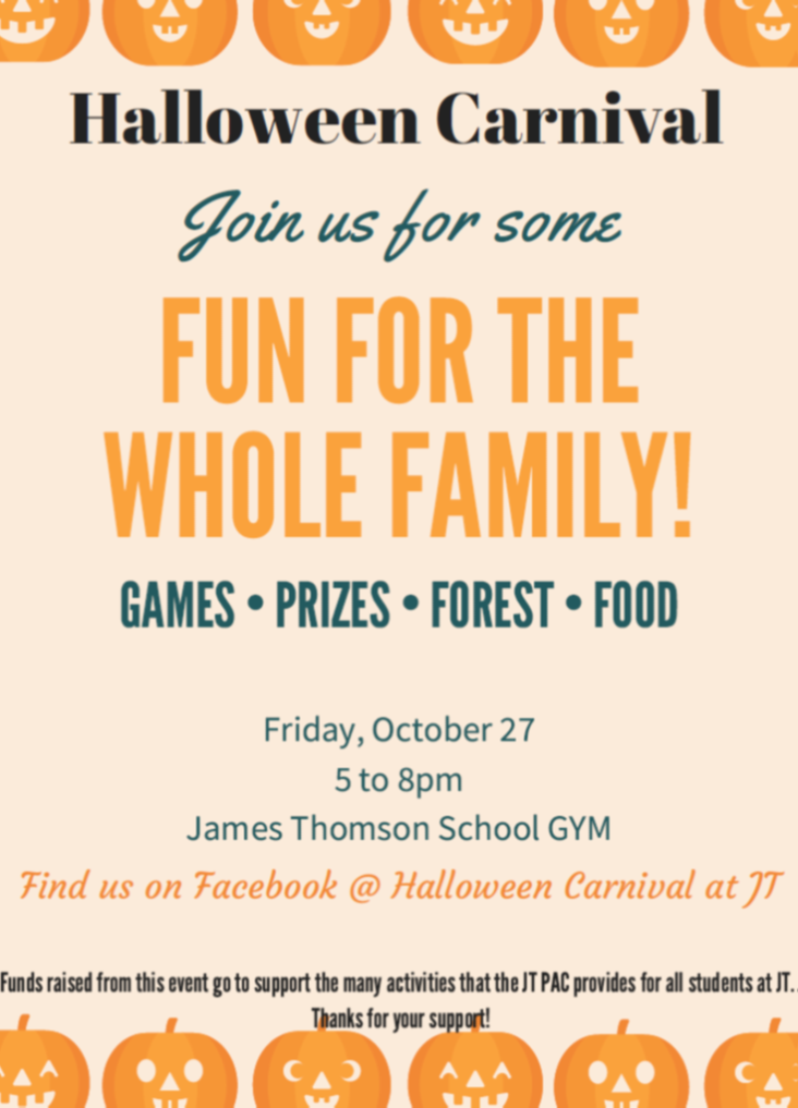 James Thomson Halloween Carnival - Friday, Oct 27th