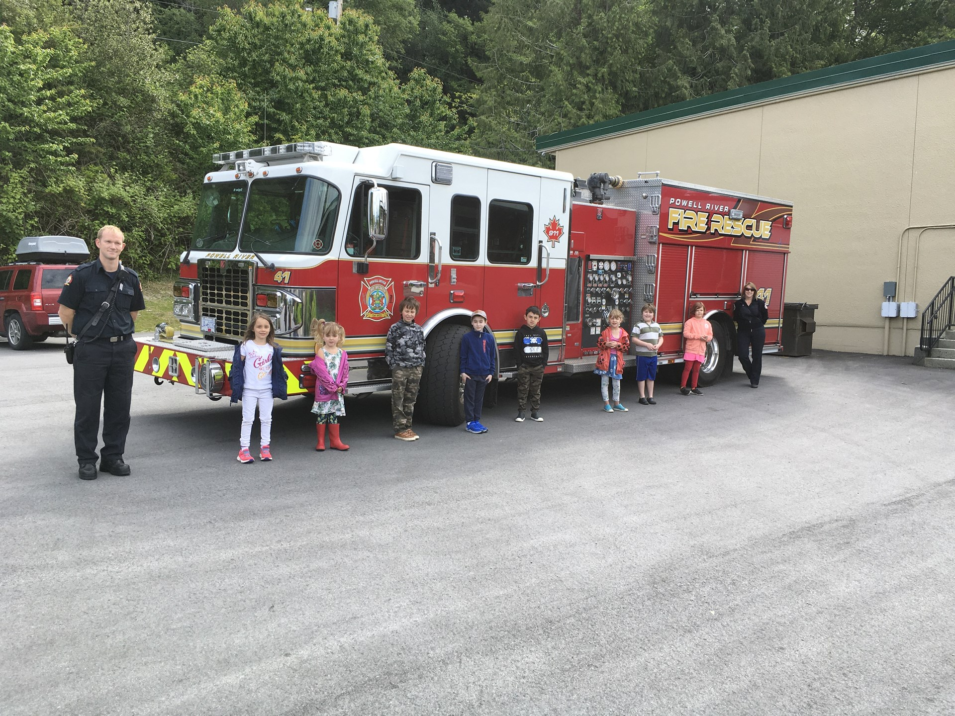 Firefighters visit Henderson