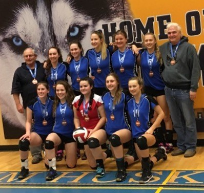 Sr. Girls' Volleyball Team - 3rd Place Finishers at BC Championships