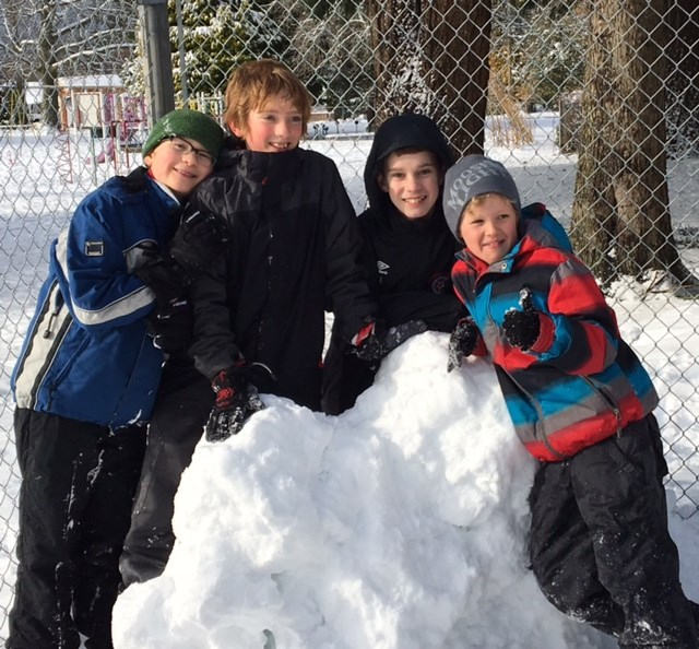 Fun in the Snow at James Thomson!