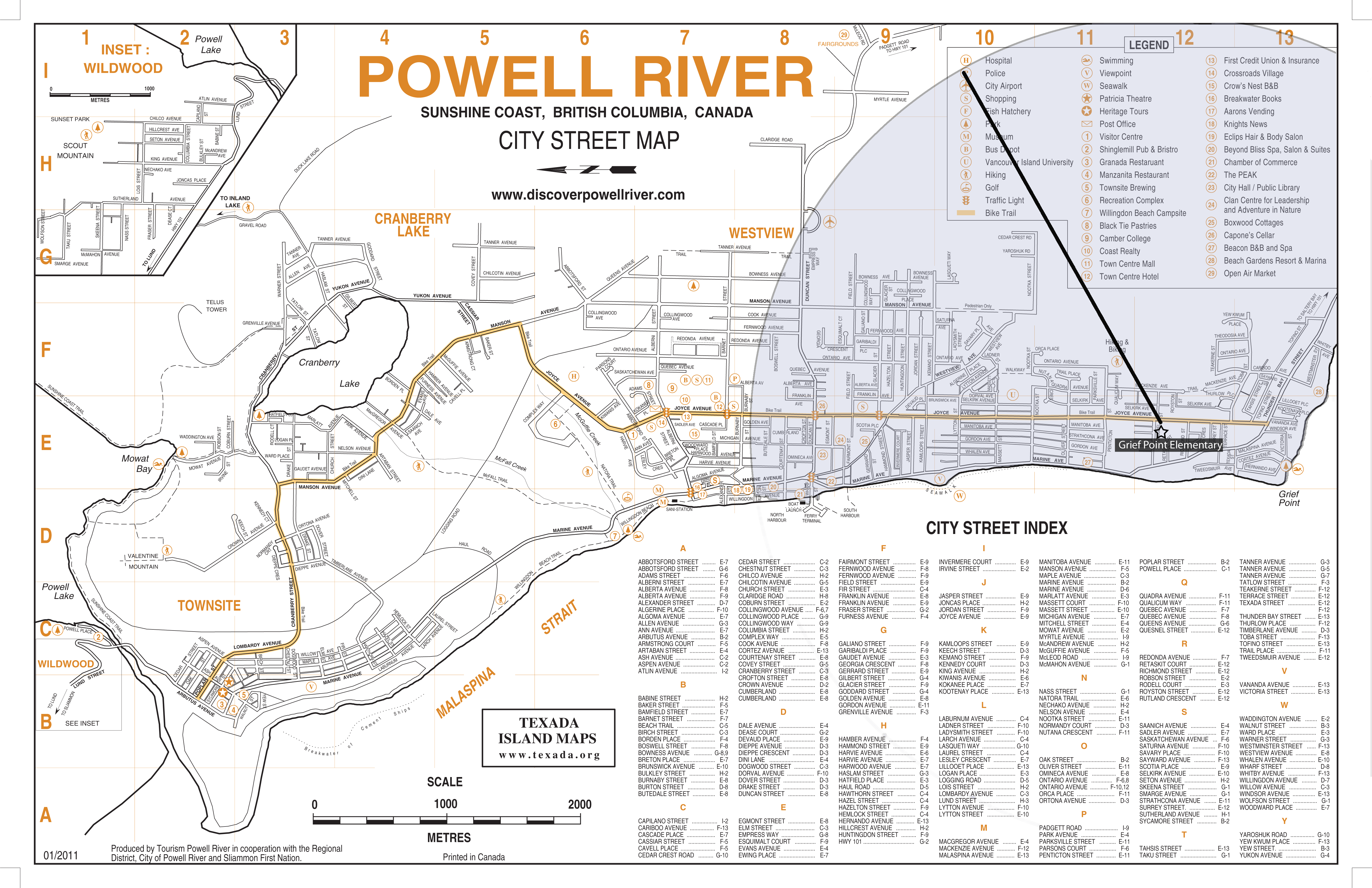 Powell River Map Busing Maps   Powell River Board of Education Powell River Map