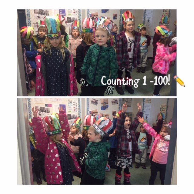 Hundredth Day at School!  Yippee!