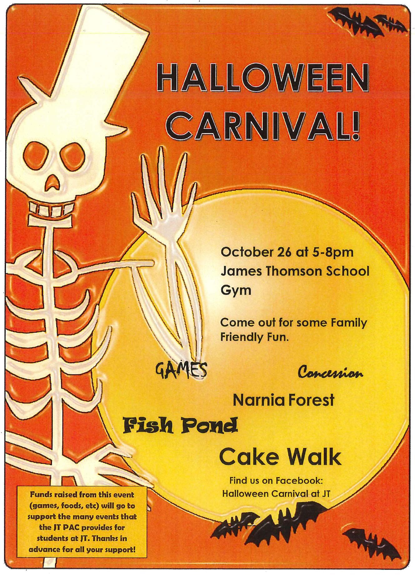 JT Halloween Carnival - Friday, Oct 26th (5pm-8pm)
