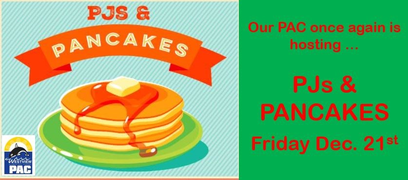 "PAC is Hosting ""PJs & PANCAKES"" - Fri. Dec. 21st"
